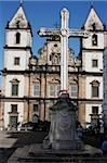 The San Francesco cathedral in the center of Salvador de Bahia, Brazil, South America