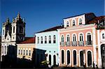 Nossa Senhora do Rosario dos Pretos cathedral in the Pelourinho district, UNESCO World Heritage Site, Salvador de Bahia, Brazil, South America