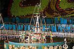 Tänzer und Akrobaten Themenzentrum Festival, Messe Games in Pjöngjang, Nordkorea, Asien