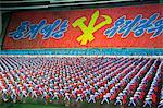 Tänzer bei den Themenzentrum Festival, Masse spielen in Pjöngjang, Nordkorea, Asien