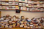 Books for sale, Les Puces de Saint-Ouen Flea Market, Porte de Clignancourt, Paris, France, Europe
