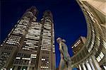 Tours jumelles de l'office de gouvernement métropolitain de Tokyo, bâtiment Ouest Shinjuku, Tokyo, Japon, Asie