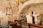 Chapelle, ermitage de San Cataldo, Cottanello, Rieti, Latium (Lazio), Italie, Europe