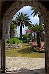 Villa Rufolo gardens in Ravello, Amalfi Coast, UNESCO World Heritage Site, Campania, Italy, Europe