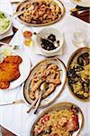 Varietyt de fruits de mer plats sur la Table