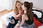 Weibliche Teenager schminken