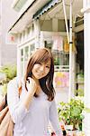 Japanese Women Smiling Outdoors