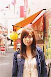 Japanese Women Posing In Street