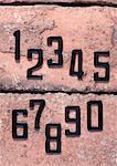 Numéros sur les briques