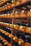 Bottles of wine in Salitage winery, Pemberton, Western Australia, Australia