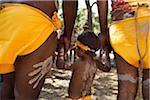 Australia, Queensland, Laura.  Indigenous dancers at the Laura Aboriginal Dance Festival.