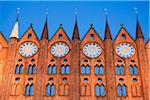 Town hall, Rostock, Mecklenburg-Western Pomerania, Germany
