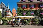 Stadttor in Meersburg, Bodensee, Baden-Württemberg, Deutschland