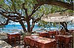 Taverne à Plakias, Crète, Grèce