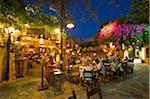 Tavernes de la vieille ville de Chania, Crète, Grèce