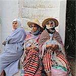 Women wearing the traditional Rif costume. Tetouan, Morocco