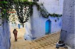 Wandering through the bluish Chefchaouen medina. Morocco