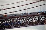 25th of April Bridge over the Tagus river (rio Tejo), Lisbon, Portugal