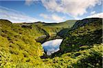 Caldeira Comprida Crater Lake. Flores, Azoren, Portugal