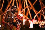 Kigali, Rwanda. A traditional Tanzanian dancer performs at FESPAD Pan African dance festival.