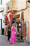 Shopping, Old Town, Eivissa, Ibiza, the Balearic Islands, Spain