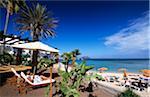 Beach bar in Corralejo, Fuerteventura, Canary Islands, Spain