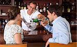 Couple having Drinks at Bar, Reef Playacar Resort and Spa, Playa del Carmen, Mexico