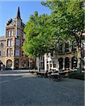 Restaurant et marché, Aix-la-chapelle, Rhénanie du Nord-Westphalie, Allemagne