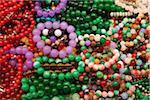 Jade bracelets at the Jade Market.  Hong Kong, China