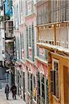 Architecture coloniale portugaise dans la rue à Macao (Chine)