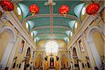 Intérieur de l'église de creusée, Macau, Chine