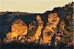 Les trois sœurs, Parc National des monts Blue, Blue Mountains, UNESCO World Heritage Area, Nouvelles Galles du Sud, Australie