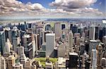An aerial view of uptown Manhattan, New York