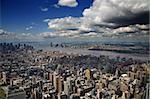 An aerial view of Lower Manhattan, New York
