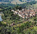france midi pyrenees caylus village aveyron