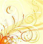 Grunge paint flower background with waves, element for design, vector illustration