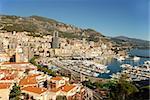 panoramic view and mediterranean coastal scenery