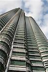 One of Petronas Towers in Kuala Lumpur, Malaysia