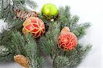 Christmas tree detail close-up