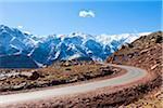 Mountain Road Leading into High Atlas Mountains, South of Marrakesch, Morocco