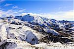 Snow-Covered Mountaines, High Atlas Mountains, near Tizi n'Tichka Pass, Morocco
