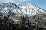 Snow-covered mountain near Emerald Bay, South Lake Tahoe, California