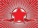 Award illustration. Star and ribbon.