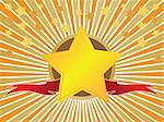 Award illustration. Stars and ribbon.