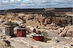 Outhouses at Acoma Pueblo, Cibola County, New Mexico, USA
