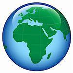 shiny planet earth map ; illustration