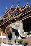 White elephant in Wat Phra That Doi Sutep