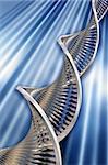 3D render of DNA strands
