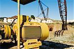 Big electric motor in a marble quarry, Estremoz, Alentejo, Portugal