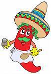 Mexican chilli chef - vector illustration.